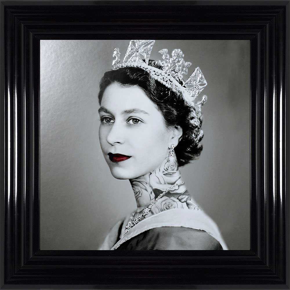Elizabeth Regina - The Tattooed Queen (Black 55 Frame)