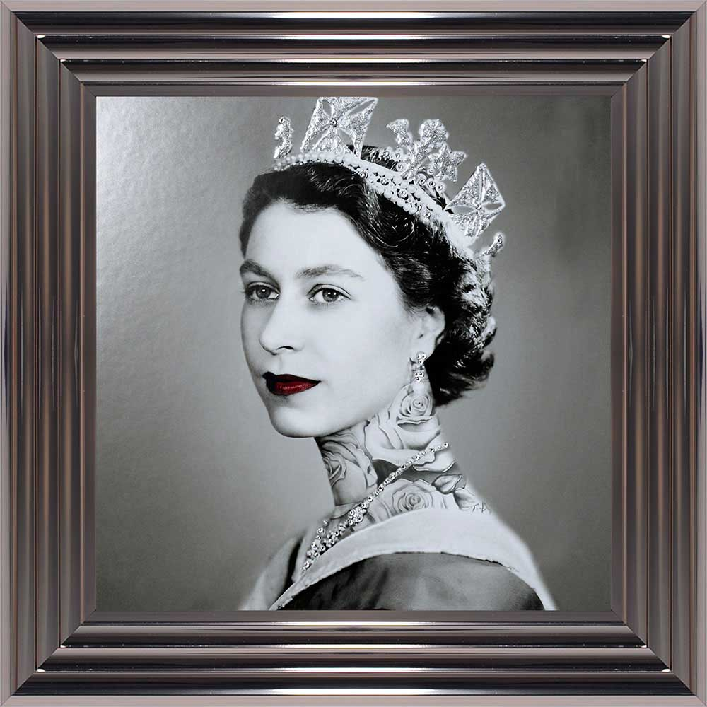 Elizabeth Regina - The Tattooed Queen (Metallic 55 Frame)