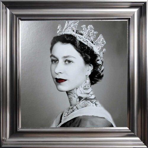 Queen Elizabeth - Neck Tattoos - Glitter - Vegas Frame