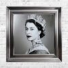 Queen Elizabeth - Neck Tattoos - Glitter - Vegas Frame - Mounted