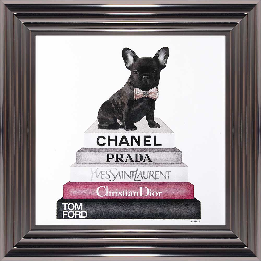 "French Bulldog In A Bowtie - ""Pink Frenchie"" (Metallic 75 Frame)"