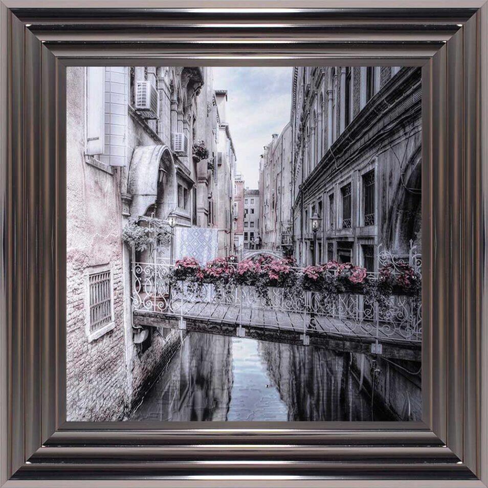 Venice Walkway - Flat Bridge - Flowers - Metallic Frame