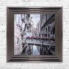 Venice Walkway - Flat Bridge - Flowers - Metallic Frame - Mounted