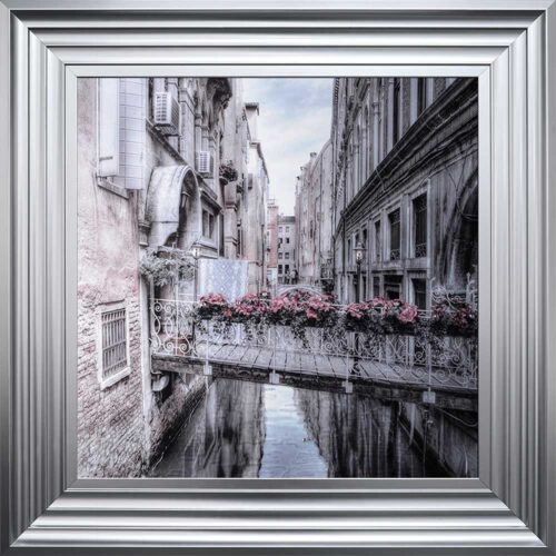 Venice Walkway - Flat Bridge - Flowers - Steel Frame
