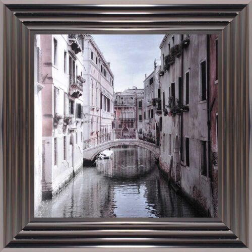 Venice Bridge - Curved Bridge - Flowers - Metallic Frame