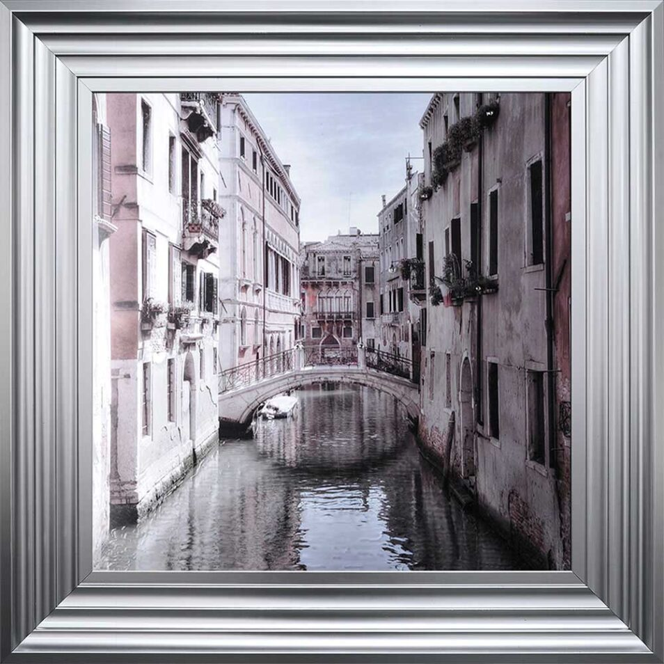 Venice Bridge - Curved Bridge - Flowers - Steel Frame