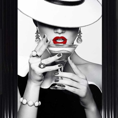 Drinks - Red Lips - Flat White Hats - Cocktails - Black Frame