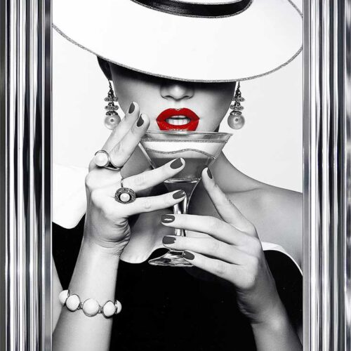 Drinks - Red Lips - Flat White Hats - Cocktails - Chrome Frame