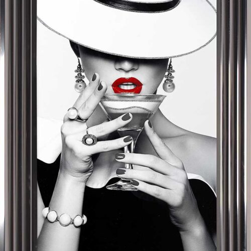 Drinks - Red Lips - Flat White Hats - Cocktails - Metallic Frame