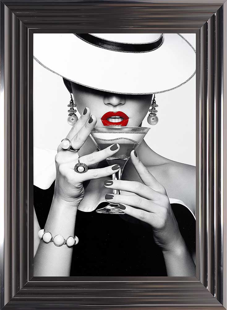 Drinks, Lips And Flat White Hats (Metallic Frame)