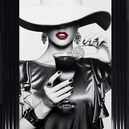 Retro Chic - Floppy Hats - Cool Drinks - Black Frame