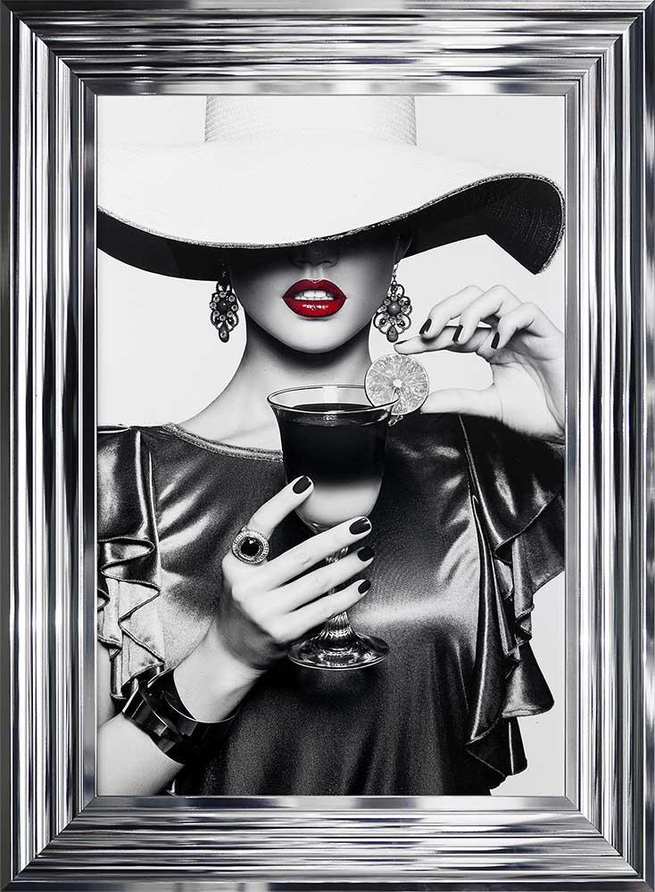 Retro Chic - Floppy Hats - Cool Drinks - Chrome Frame