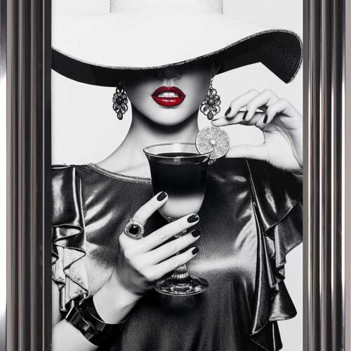 Retro Chic - Floppy Hats - Cool Drinks - Metallic Frame