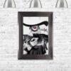 Retro Chic - Floppy Hats - Cool Drinks - Metallic Frame - Mounted