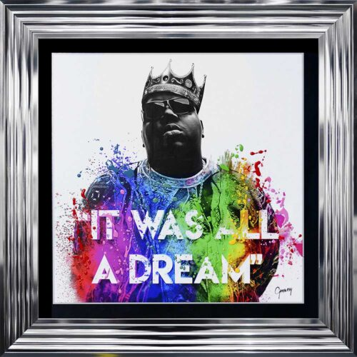 Notorious BIG - Biggie - It Was All A Dream - Chrome Frame