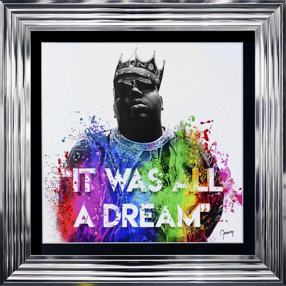 Notorious BIG - Biggie - It Was All A Dream - Chrome Frame