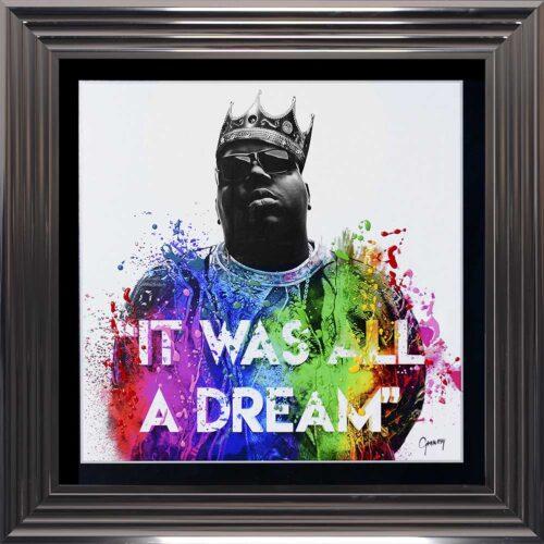 Notorious BIG - Biggie - It Was All A Dream - Metallic Frame
