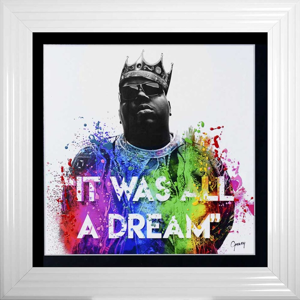 Notorious BIG - Biggie - It Was All A Dream - White Frame