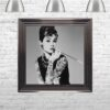 Audrey Hepburn - Classic Beauty - Tattooed Audrey - Metallic Frame - Mounted