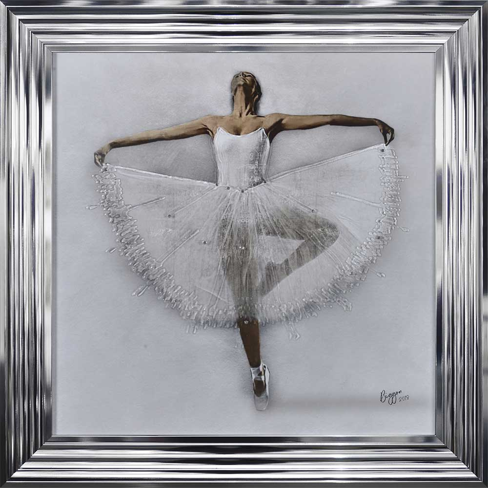 Performing White Ballerina (Chrome 75 Frame)