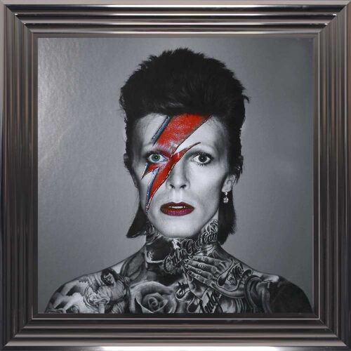 David Bowie - Colour Lightning - Tattoos - Metallic Frame