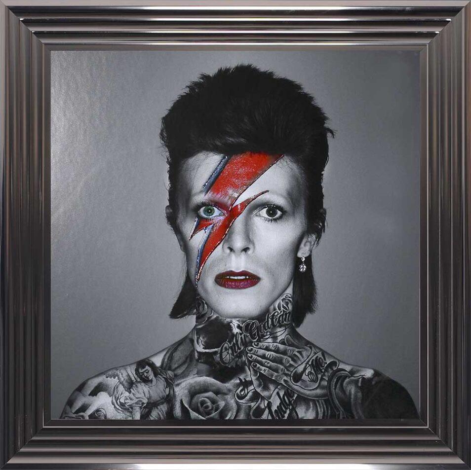 David Bowie - Colour Lightning - Tattoos - Metallic Frame