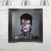 David Bowie - Colour Lightning - Tattoos - Metallic Frame - Mounted