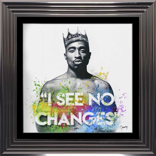 Tupac - I See No Changes - No Changes - 2Pac - Colour - Metallic Frame