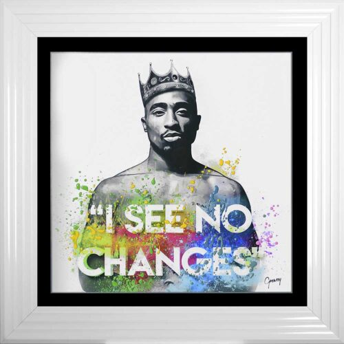 Tupac - I See No Changes - No Changes - 2Pac - Colour - White Frame
