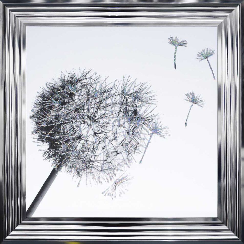 Dandelions - Blowing Right - Chrome Frame