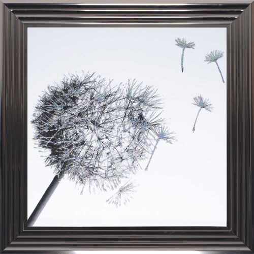 Dandelions - Blowing Right - Metallic Frame