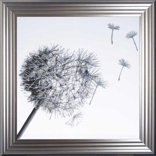 Dandelions - Blowing Right - Silver Frame