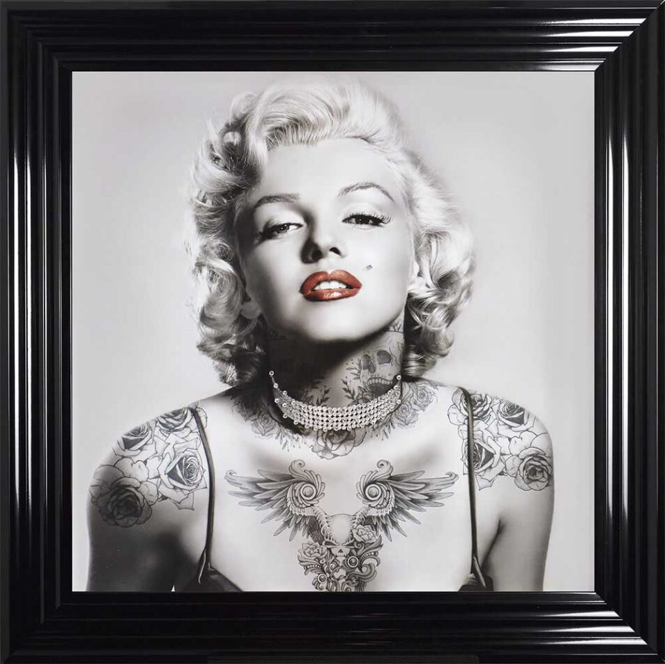 Marilyn Monroe - Tattooed - Red Lips