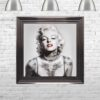 Marilyn Monroe - Tattooed - Red Lips - Metallic Frame - Mounted