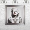 Marilyn Monroe - Tattooed - Red Lips - Silver Frame - Mounted