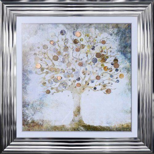 Copper Money Tree - Money Tree - Chrome Frame