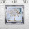 Copper Money Tree - Money Tree - Chrome Frame - Mounted
