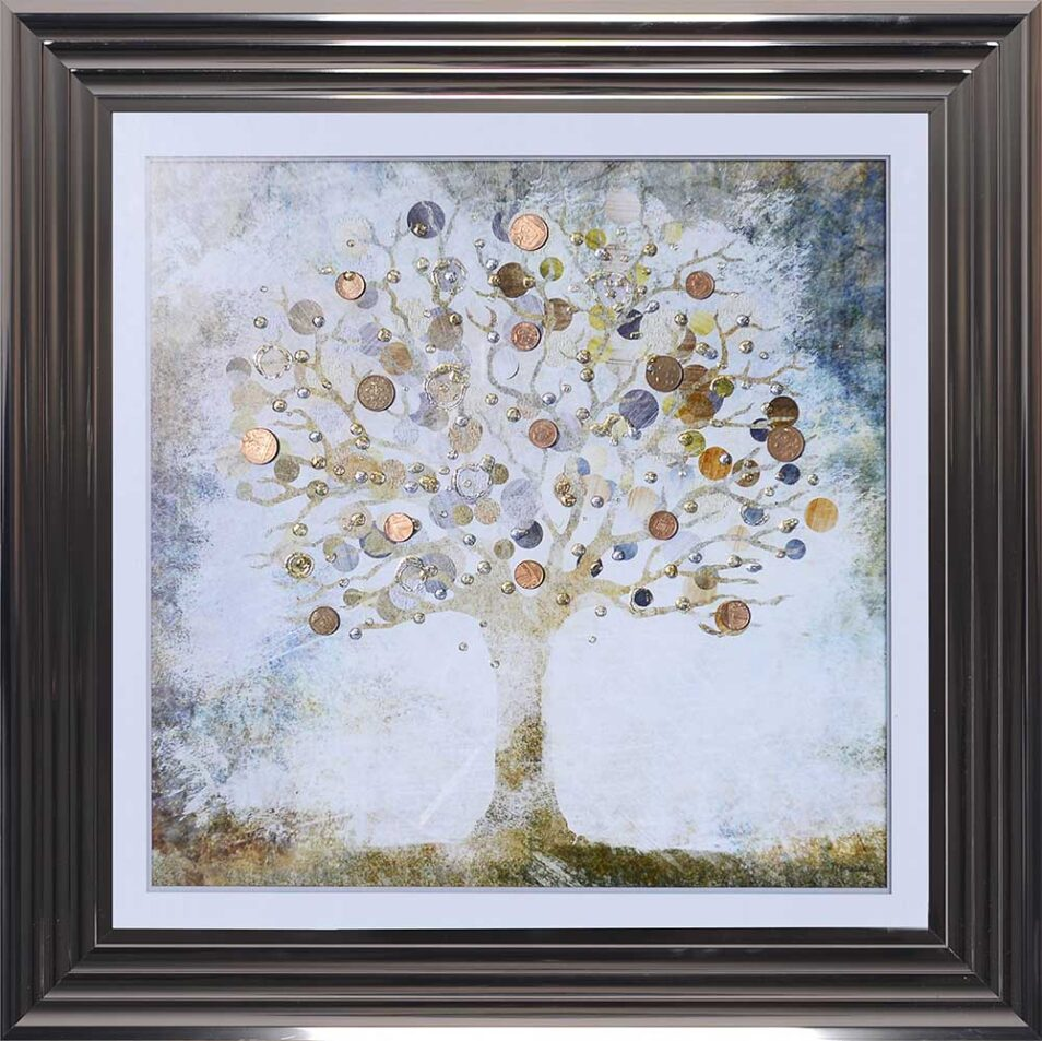 Copper Money Tree - Money Tree - Metallic Frame