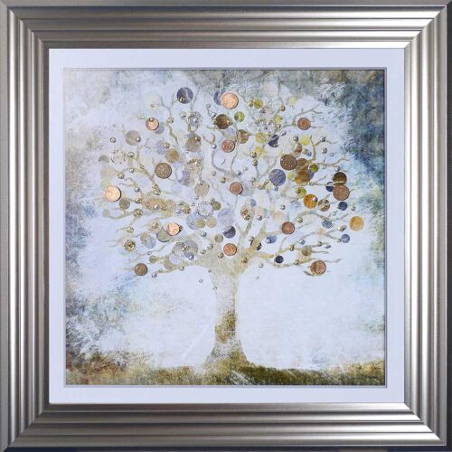 Copper Money Tree - Money Tree - Silver Frame