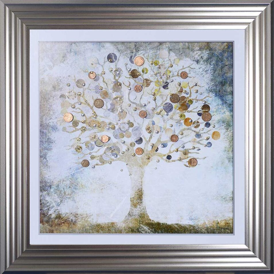 Copper Money Tree - Money Tree - Silver Frame