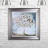 Copper Money Tree - Money Tree - Silver Frame - Mounted