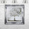 Silver Money Tree - Money Tree - Chrome Frame - Mounted