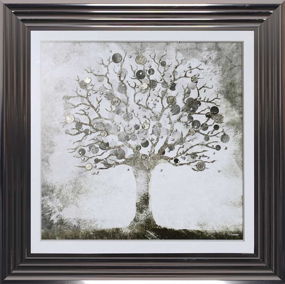 Silver Money Tree - Money Tree - Metallic Frame
