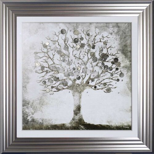 Silver Money Tree - Money Tree - Silver Frame