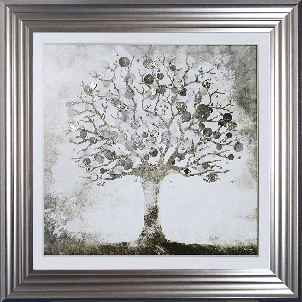Silver Money Tree (Silver 75 Frame)