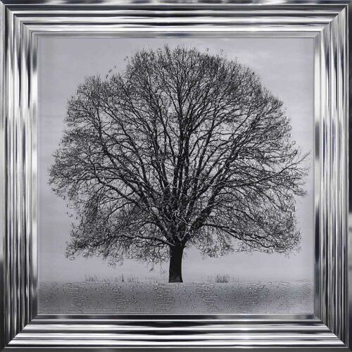 A Winter's Tree - Winter Tree - Chrome Frame