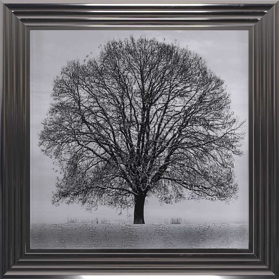 A Winter's Tree - Winter Tree - Metallic Frame