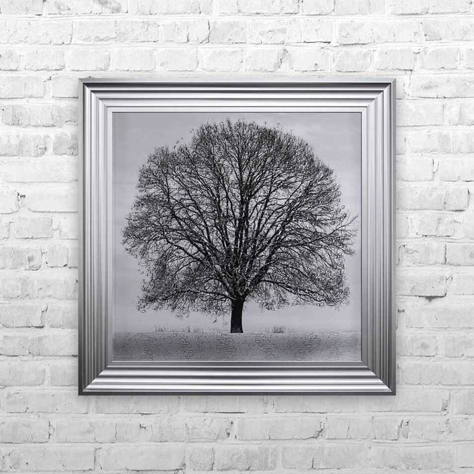 A Winter's Tree - Winter Tree - Steel Frame - Mounted