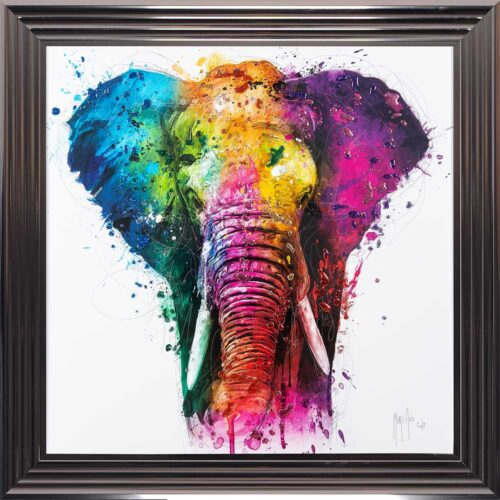 Africa - Elephant - Colourful - Patrice Murciano - Metallic Frame
