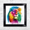 Lion - Pride - Patrice Murciano - Colour - Black Frame - Mounted
